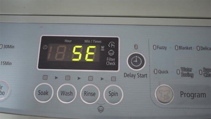 Lỗi 5E Của Máy Giặt Samsung Là Gì ? Nguyên Nhân Và Cách Khắc Phục